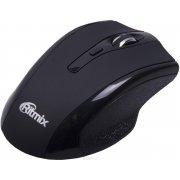Мышь Ritmix RMW-590 Black, Bluetooth, 5 + колесо-кнопка, 1600 dpi, USB, оптическая
