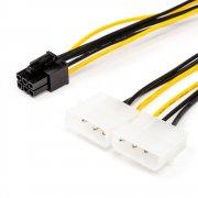 Кабель 6 pin to 2 molex (Video power)