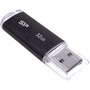 USB-флешка 32GB USB 2.0 Silicon Power Ultima U02, Черный
