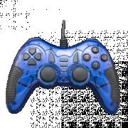 Геймпад Ritmix GP-007 Blue, USB, 19 кнопок, вибрация, PC, 1.5м
