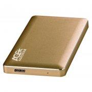 """Корпус AgeStar 31UB2A16 Gold для HDD/SSD 2.5"""" Sata3 USB3.1, алюминиевый, безвинтовой"""