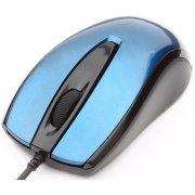 Мышь Gembird MOP-405-B Blue, USB, 1000 dpi, объёмный цвет, soft-touch, бесшумный клик