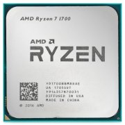 Процессор CPU sAM4 AMD Ryzen 7 1700 Tray (YD1700BBM88AE) (3.00-3.70GHz, Summit Ridge, 8 cores, 16 threads, L2: 4MB, L3: 16MB, 14nm, 65W, unlocked, DDR4-2667)