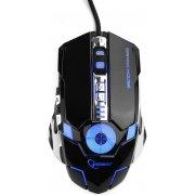 Мышь Gembird MG-530 Gamer, USB, 6 кн. + доп. кнопка выстрела, 3200 dpi, 1000 Гц, подсветка, ПО для создания макросов