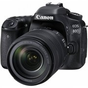 "Зеркальный фотоаппарат Canon EOS 80D черный 24.2Mpix 3"" 1080p Full HD SDXC Li-ion (без объектива)"