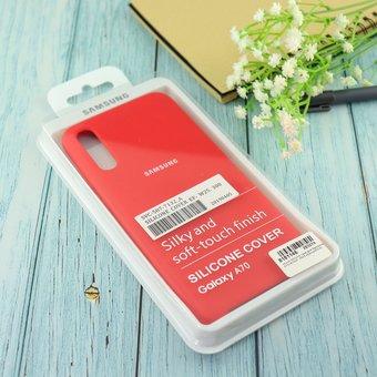 Чехол Silicone case для Samsung A70/A705F 2019 красный(14)