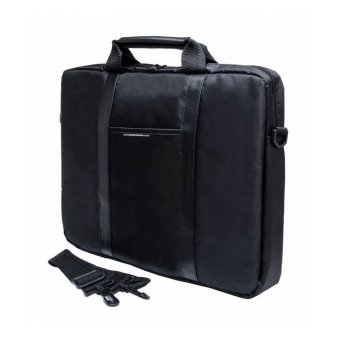 "Сумка для ноутбука 15.6"" PC Pet Nylon Style Toplader Front pocket Stiched PU Stripes Black (PCP-1003BK)"