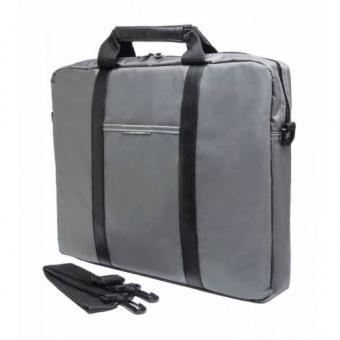 "Сумка для ноутбука 15.6"" PC Pet Nylon Style Toplader Front pocket Stiched PU Stripes Gray (PCP-1003GR)"