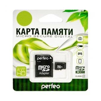 Карта памяти Perfeo microSDXC 128GB UHS-I Class 10 + adapter (PF128GMCSX10U1A)